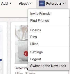 Pinterest neues Design aktivieren