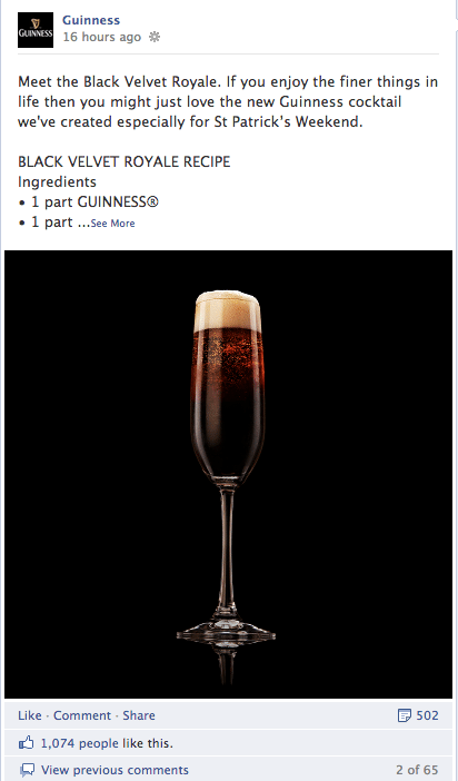Community Management Beispiel Guiness