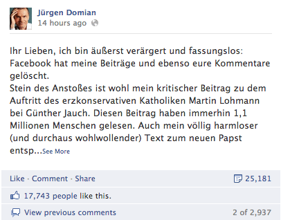 Facebook Jürgen Domian