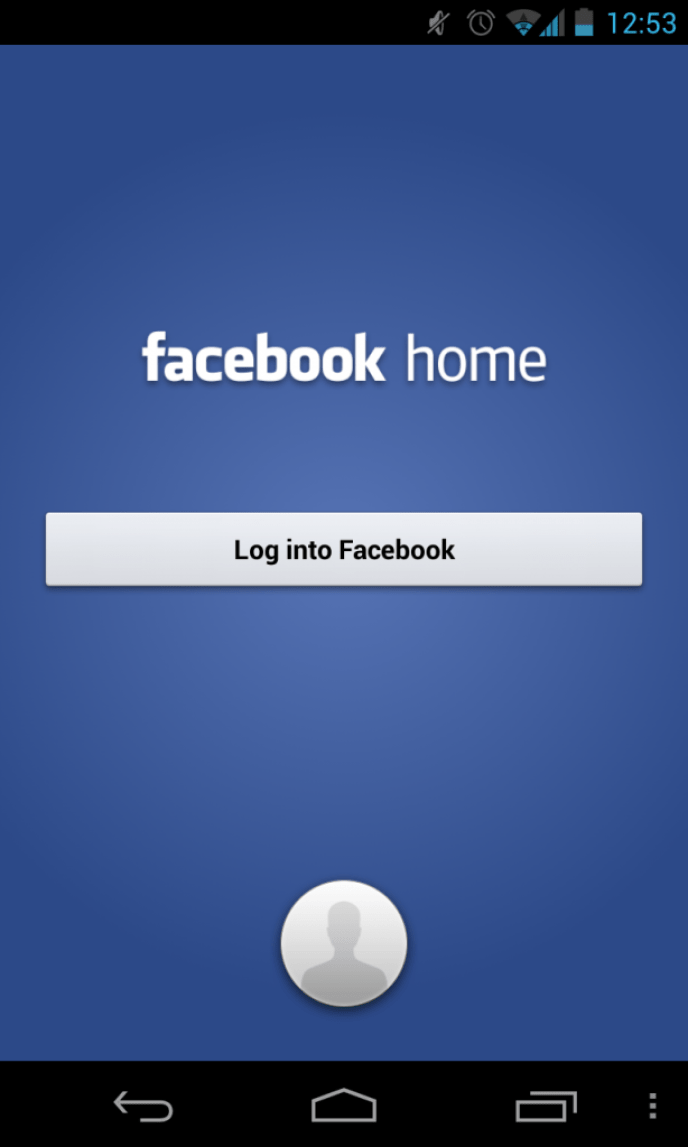 Facebook Home Login