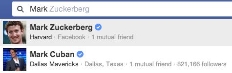 Facebook Verifizierte Konten - Suche