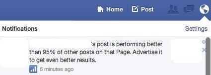 Hinweis Facebook Post Anzeigen