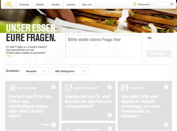 McDonald's - Unser Essen. Eure Fragen.