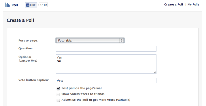 Facebook Poll Apps