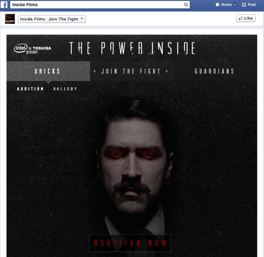 Facebook Kampagnen - Intel& Toshiba - The Power Inside