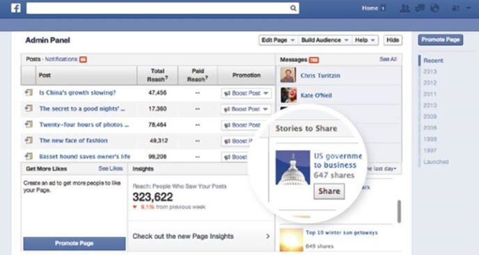 Facebook Referral Traffic - Medienunternehmen