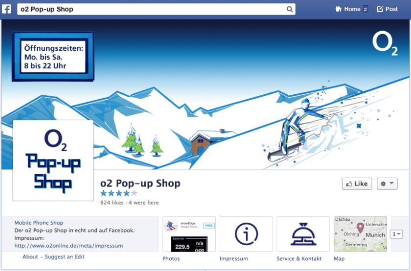 Facebook Shop - o2 Pop-Up Shop