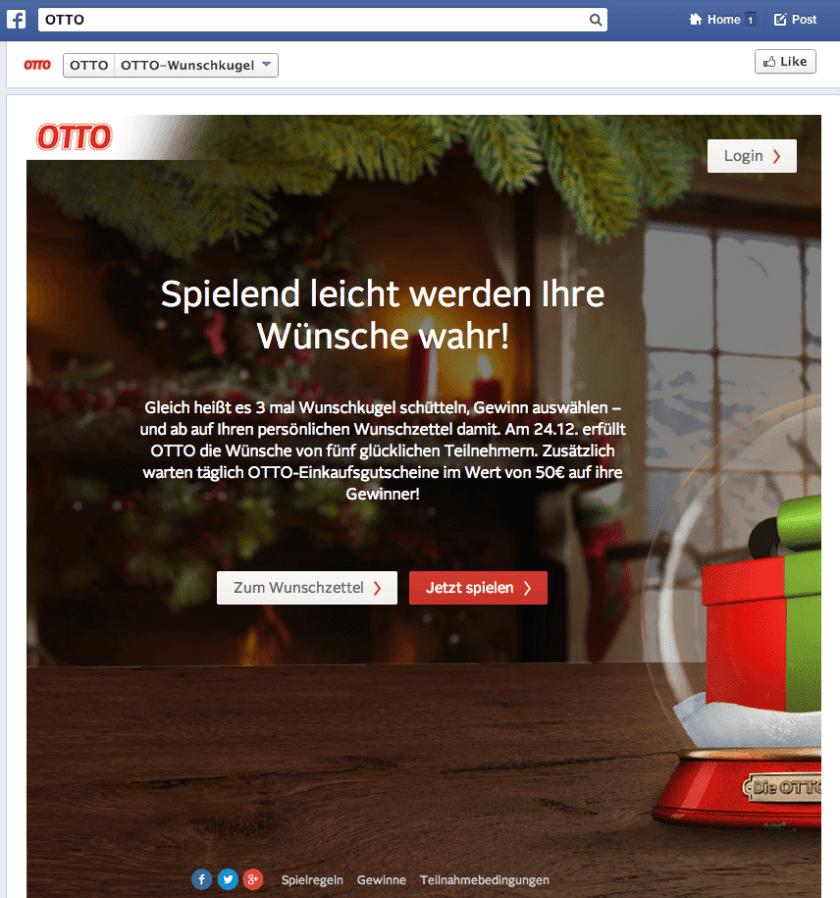 Deutsche Facebook Kampagnen - OTTO Wunschkugel