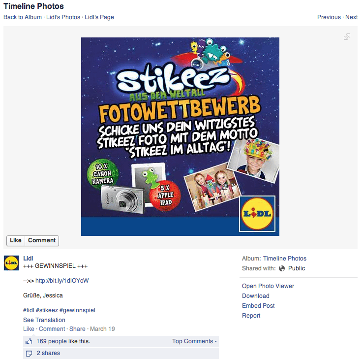 Facebook Hashtags - Gewinnspiel ist besonders beliebt