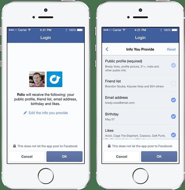Neuer Facebook Login - Mehr Kontrolle