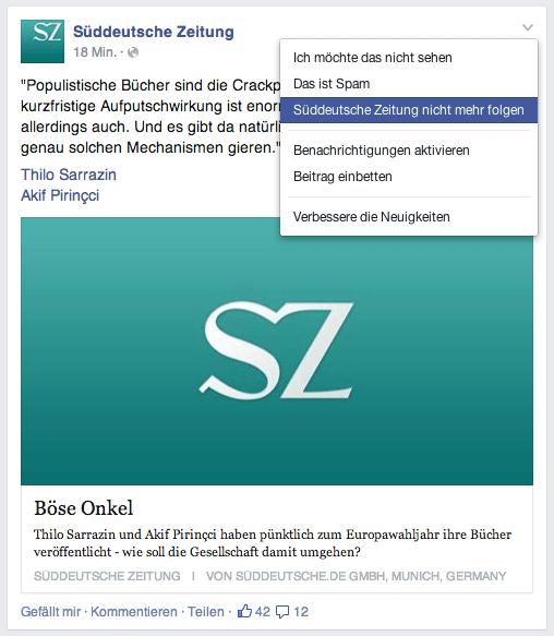 Facebook Seiten nicht mehr folgen - Gründe