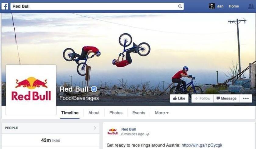 Facebook Nutzerbeiträge - Chronik gesperrt Red Bull