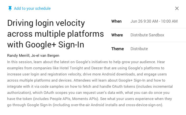 Google I/O - Einziges Google+ Thema war der Google+ Login
