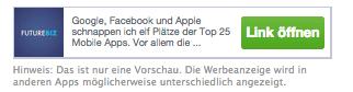 Facebook Anzeigen - App_Banner_Dritter
