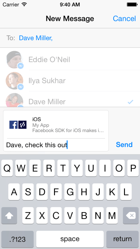 Facebook Messenger Share Dialog