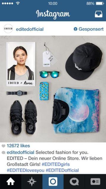 Instagram Anzeigen - Beispiele aus Deutschland mit Edite Official