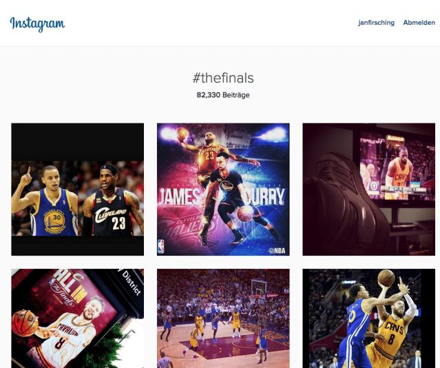 Instagram Webansicht - Darstellung von Instagram Hashtags