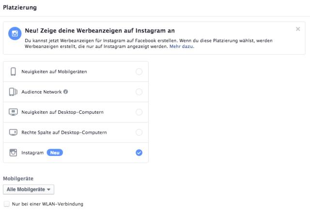 Instagram Anzeigen im Facebook Power Editor erstellen