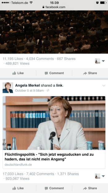 Facebook Seiten - Facebook zeigt Aufrufe von Beiträgen öffentlich an XII