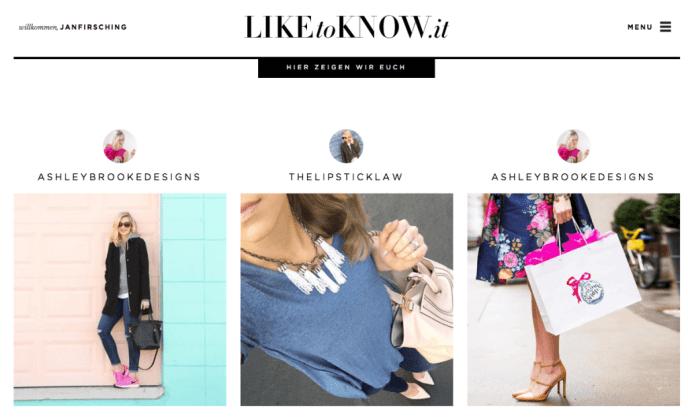 LiketoKnowit - Instagram Commerce für Unternehmen und Influencer