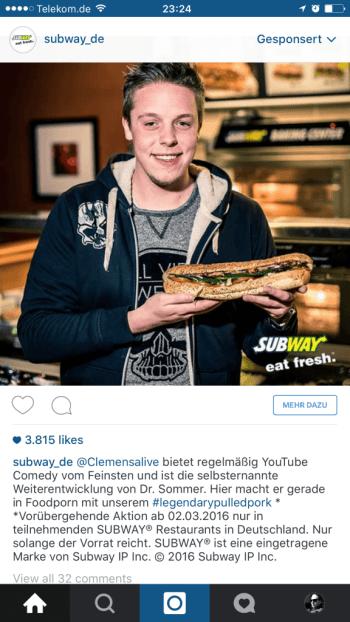 Influencer mit Instagram Anzeigen kombinieren