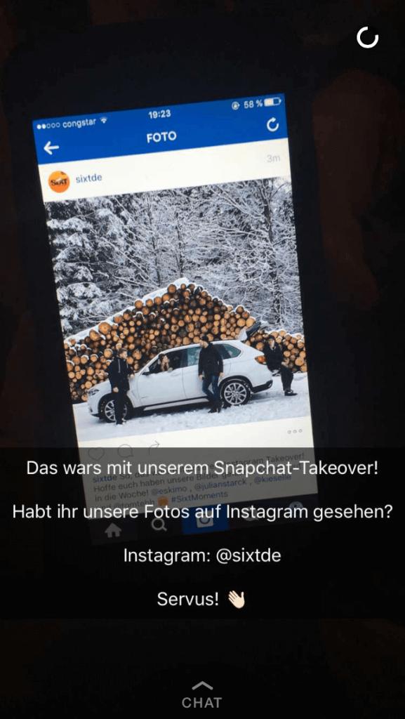 Snapchat Takeover_sixt_deutschland