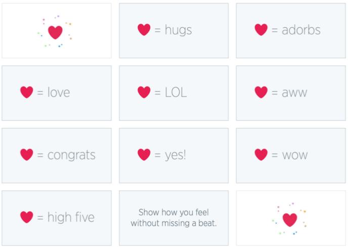 Twitter Herzen steigern Interakttionen mit Tweets