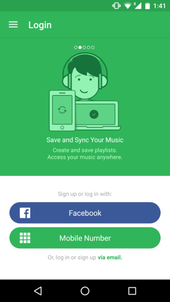 Facebook Account Kit - Saavn