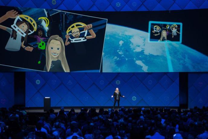 Facebook Virtual Reality App - Social Network Spaces F8-min