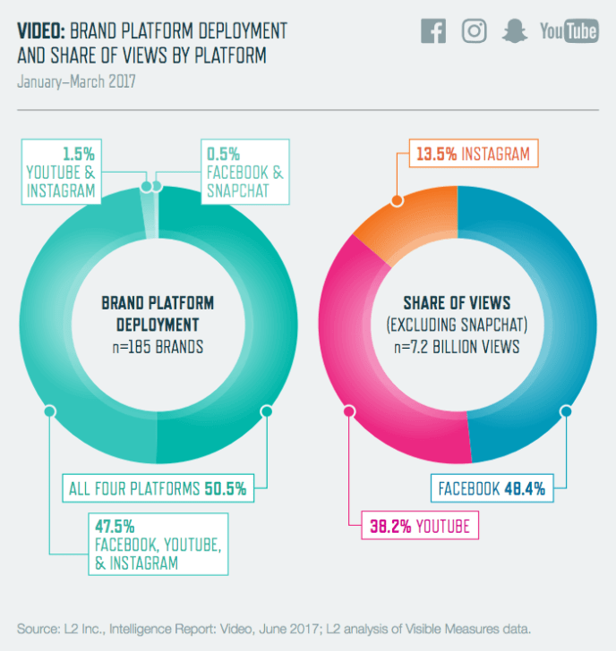 Social Media Video - VIews auf Facebook, Instagram & YouTube Studie
