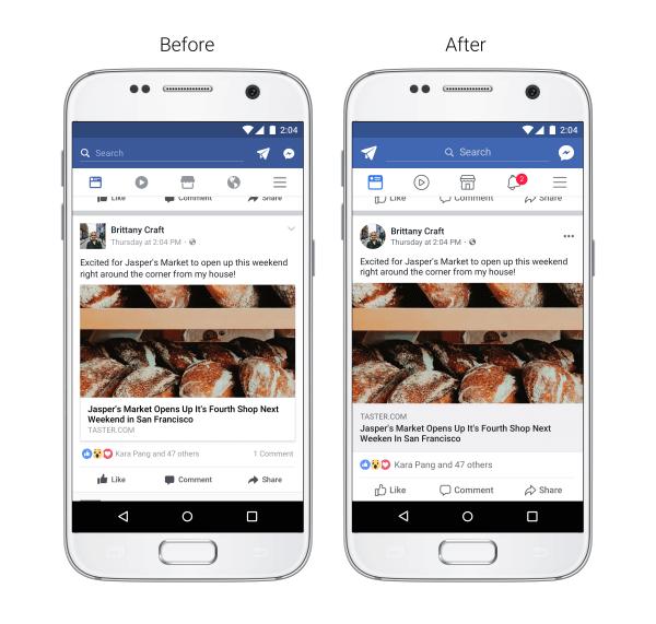 Neue Facebook Linkvorschau - Facebook News Feed Design 2017