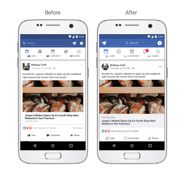 Neue Facebook Linkvorschau - Facebook News Feed Design 2017