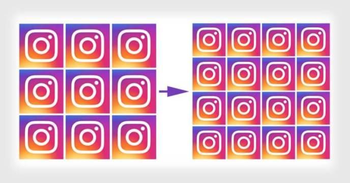 Instagram Raster - Neue Darstellung Instagram Grid