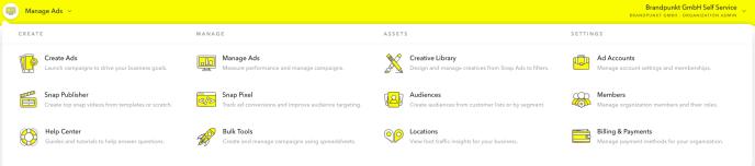 Snapchat Anzeigenmanager-Übersicht-Funktionen