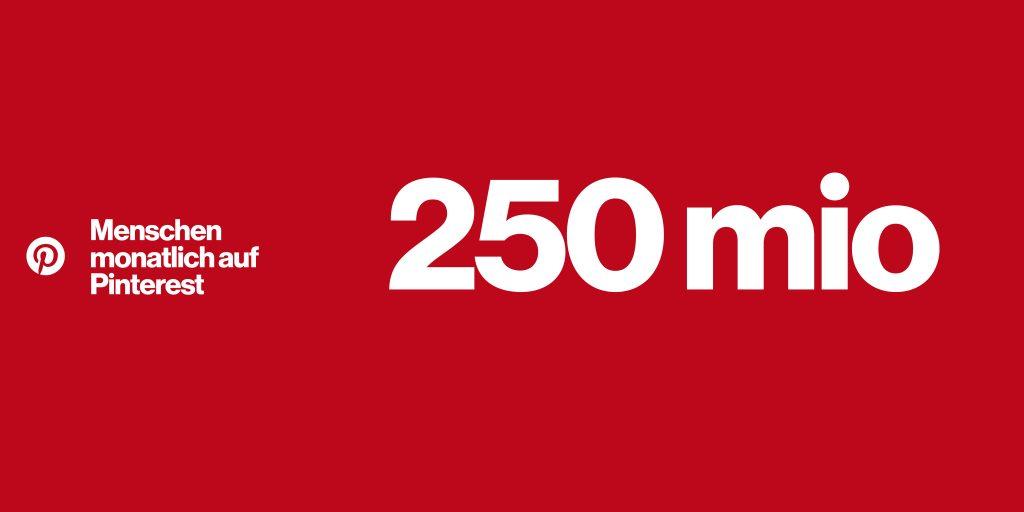 Pinterest Nutzerzahlen 2018: 250 Mio. Menschen nutzen