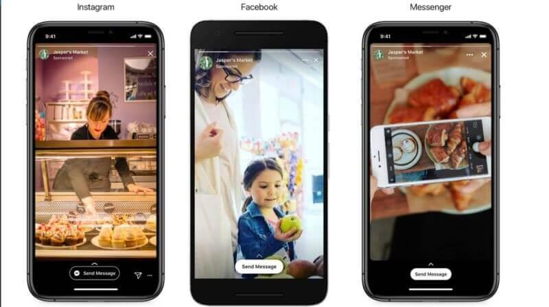"""""""Sende uns eine Nachricht"""": Nachrichten als Ziel von Story ADs für Facebook, Instagram & Messenger Stories"""