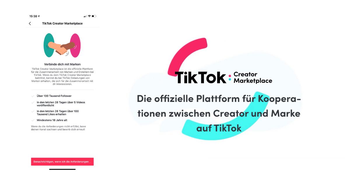 TikTok-Marketplace-Kriterien-Aufnahme
