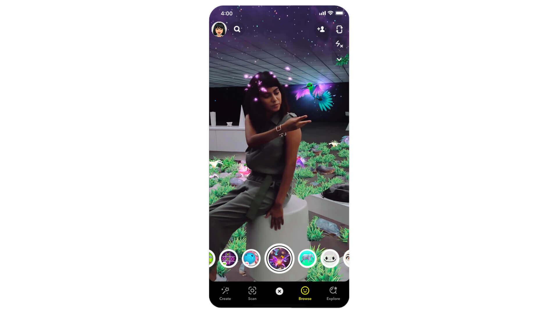 Snapchat-Lidar-Lenses-iphone12-lidar-scanner