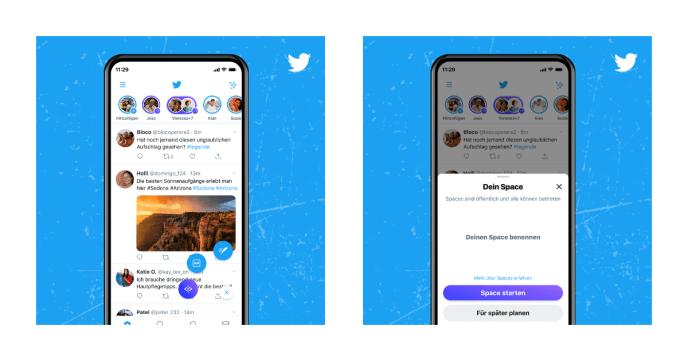 Twitter Spaces erstellen