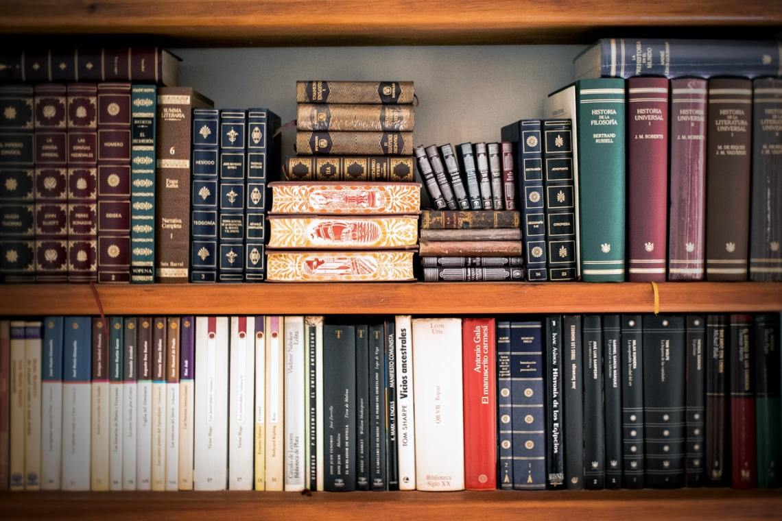 law books on a bookshelf