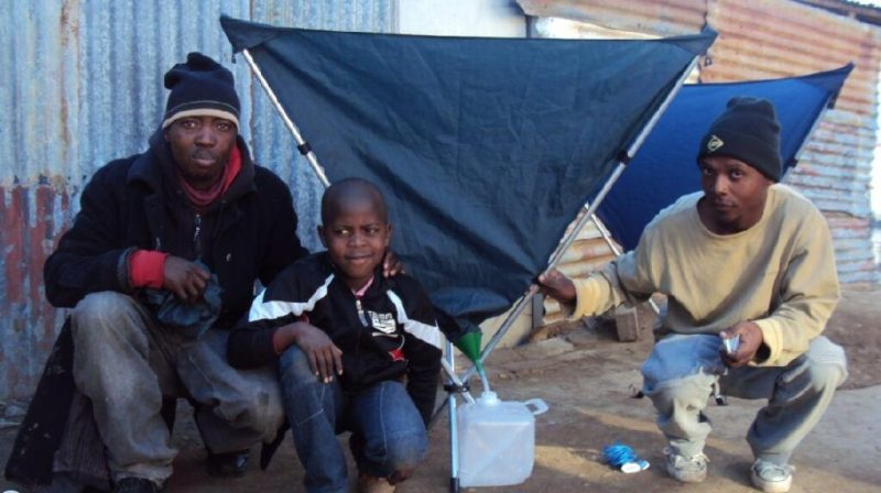 Engineer Marthinus Bekker Invented a Collapsible Rain Catcher in South Africa