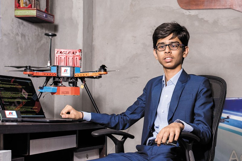 16-Year-Old Indian Student Developed a Life-Saving Drone That Zaps Landmines from the Sky