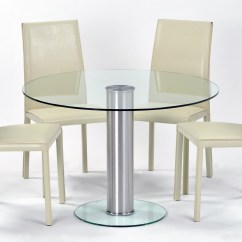 Circle Glass Table And Chairs All Purpose Salon Chair Round Dining Tables Best Ideas
