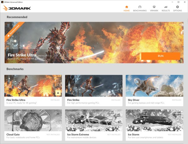 3DMark adds VRMark preview and new UI for Windows version