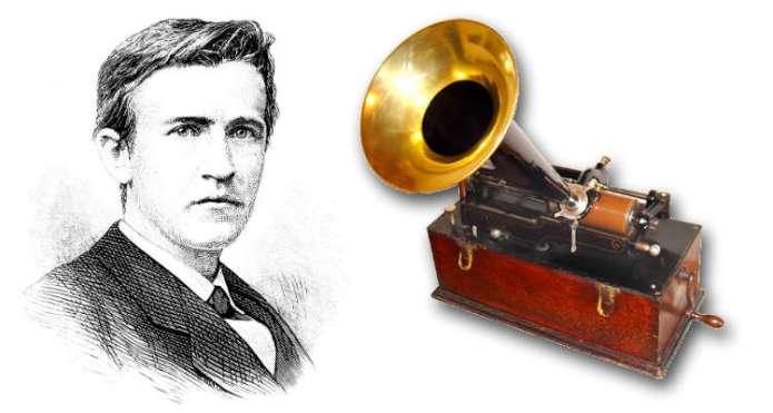 Resultado de imagen para Fotos de Thomas Alva Edison, y el fonógrafo