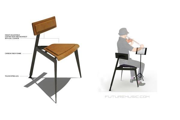 New High Tech Concept Chair Design For Musicians Debuts