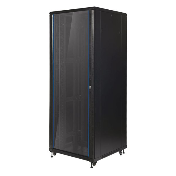 Data Cabinet with a Glass Front Door
