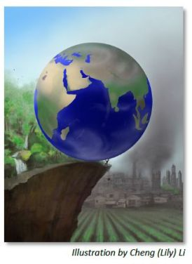 Earth on Edge Graphic by Cheng Li