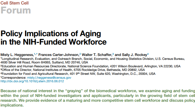 Effects of an Aging Scientific Workforce on Funding Success: Interview with Labor Economist Misty Heggeness