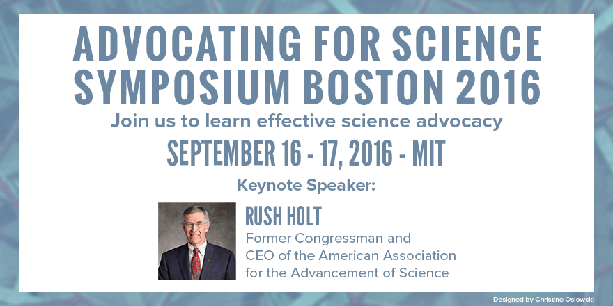 "Travel Scholarships to attend ""Advocating for Science"" in Boston"